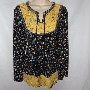 Floral Small 6/8 Roomy Stretchy Jersey Knit Shirt